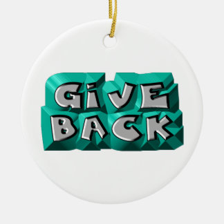 Give Back Double-Sided Ceramic Round Christmas Ornament