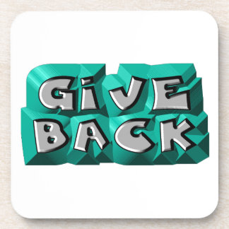 Give Back Drink Coasters