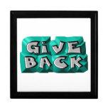 Give Back God Box Medallion Keepsake Boxes