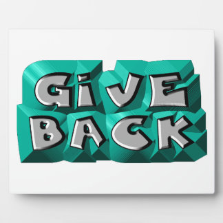 Give Back Photo Plaque