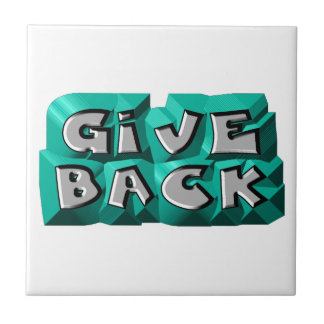 Give Back Small Square Tile