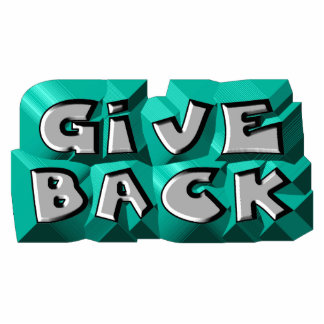 Give Back Standing Photo Sculpture