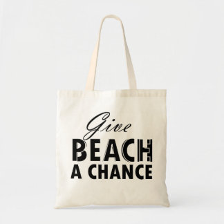give beach/peace a chance tote bag
