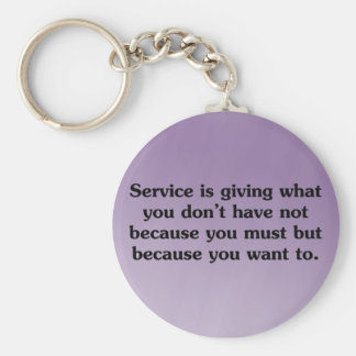Give because you want to basic round button keychain