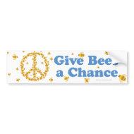 Give Bees a Chance Bumper Sticker bumpersticker