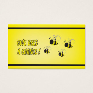 Give bees a chance business card