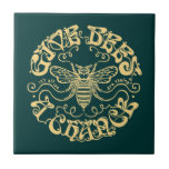 Give Bees a Chance Ceramic Tile