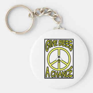 Give Bees A Chance Keychain