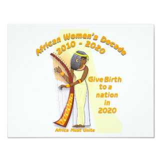 Give Birth to a Nation 4.25x5.5 Paper Invitation Card