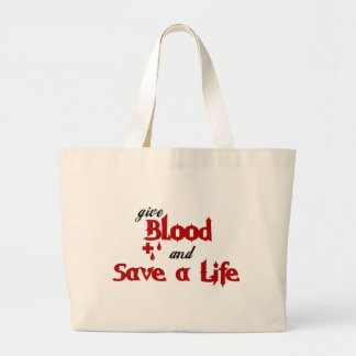 Give Blood and Save a Life Tote Bags
