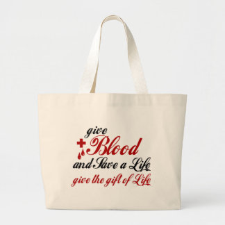 Give Blood and Save a Life Canvas Bag