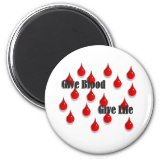 Give Blood Give Life magnet