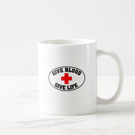 Give blood give life mugs