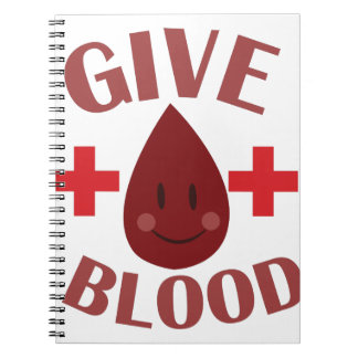 Give Blood Note Books