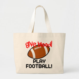 Give Blood, Play Football Canvas Bags
