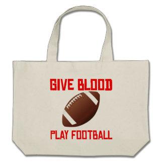 Give Blood Play Football Bag