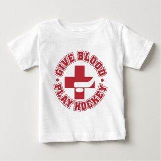 Give Blood, Play Hockey Baby T-Shirt