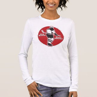 Give Blood Play Hockey Long Sleeve T-Shirt