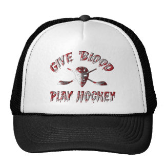 Give Blood Play Hockey Mesh Hat