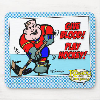 Give Blood! Play Hockey! Mouse Mats