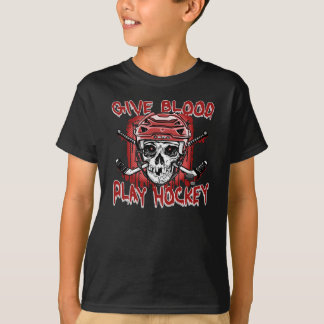 Give Blood Play Hockey Red T-Shirt