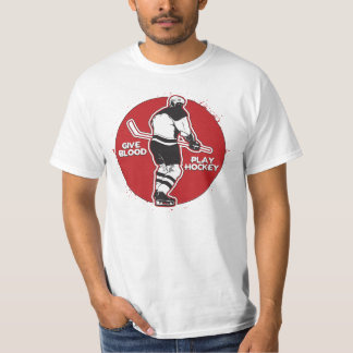 Give Blood Play Hockey T-Shirt