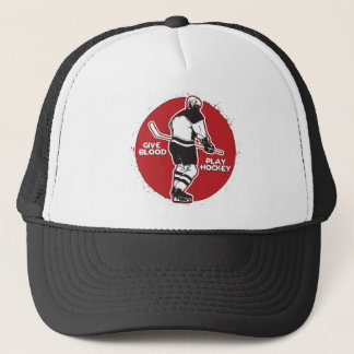 Give Blood Play Hockey Trucker Hat