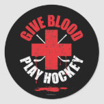 Give Blood Play Hockey v1 Sticker
