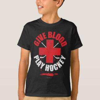 Give Blood Play Hockey v1 T-Shirt