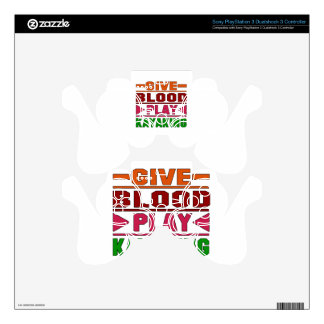 Give Blood Play Kayaking. PS3 Controller Skins