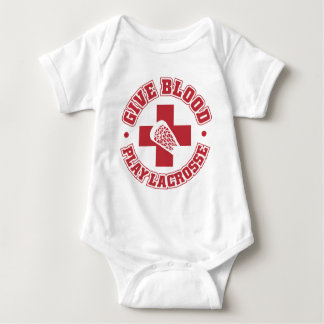 Give Blood, Play Lacrosse Baby Bodysuit