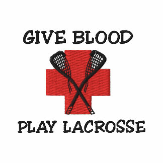 Give Blood Play Lacrosse Embroidered Shirt Polo