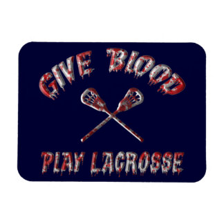 Give Blood, Play Lacrosse Flexi Magnet