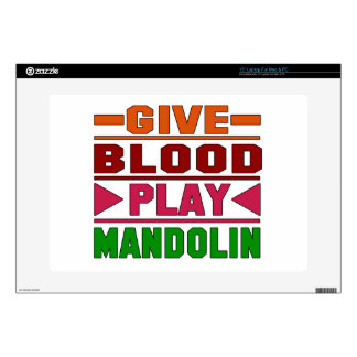 Give Blood Play mandolin. Decal For Laptop