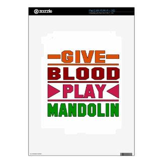 Give Blood Play mandolin. iPad 2 Skin