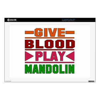 Give Blood Play mandolin. Laptop Skin
