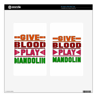 Give Blood Play mandolin. Skin For Kindle Fire