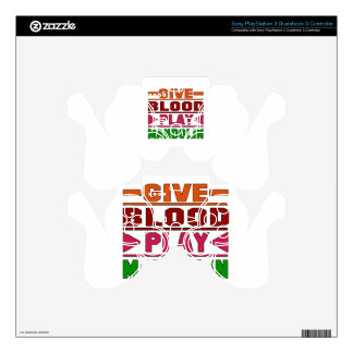 Give Blood Play mandolin. Skins For PS3 Controllers