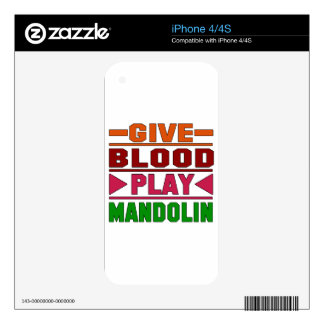 Give Blood Play mandolin. Skins For The iPhone 4S