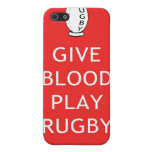 Give Blood Play Rugby Covers For iPhone 5