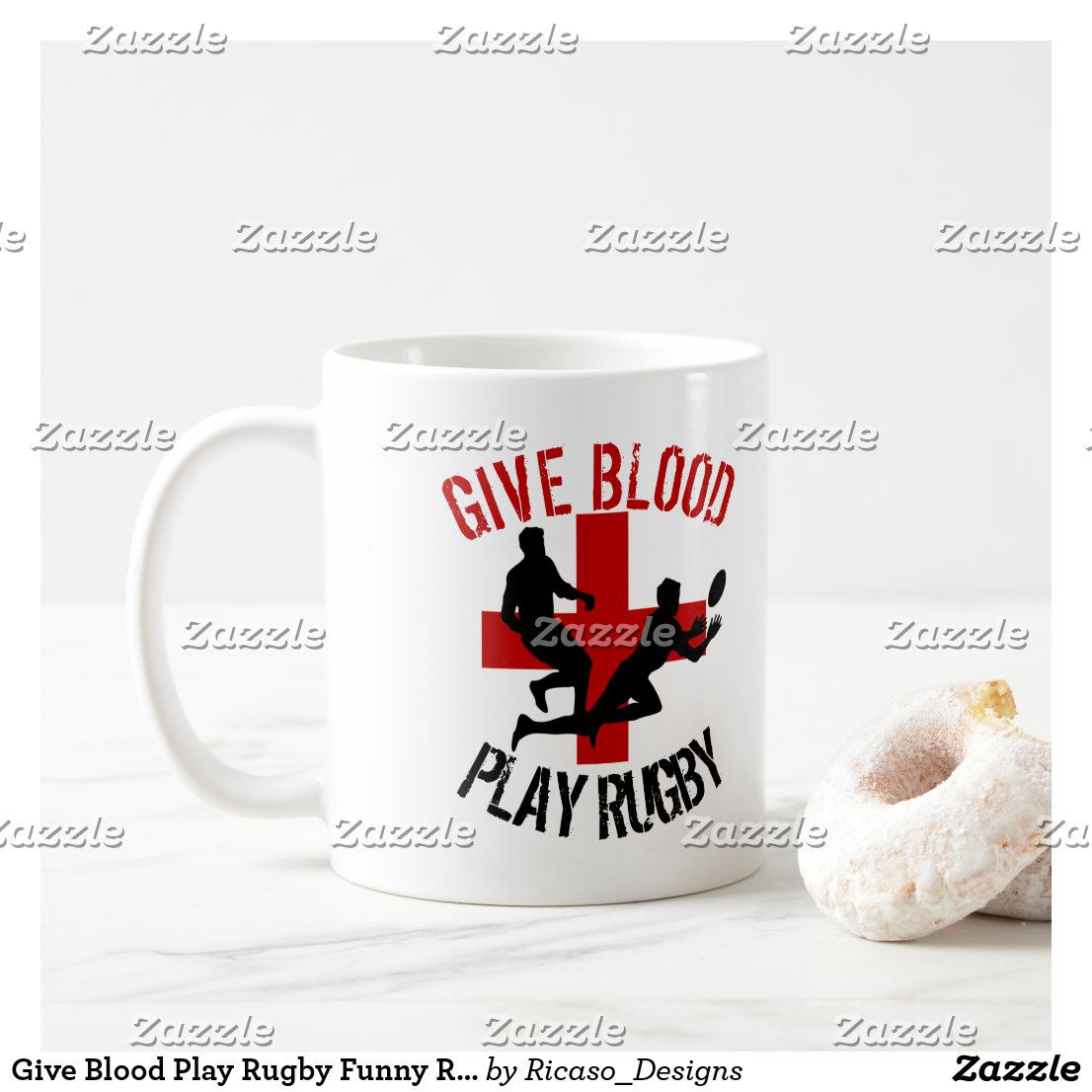 Give Blood Play Rugby Funny Rugby Sport Coffee Mug