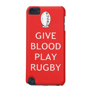 Give Blood Play Rugby iPod Touch (5th Generation) Cover