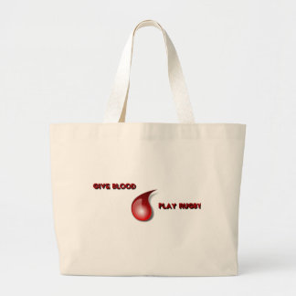 Give Blood, Play Rugby Large Tote Bag