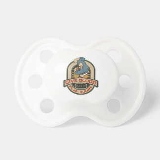 Give Blood Play Rugby Pacifier