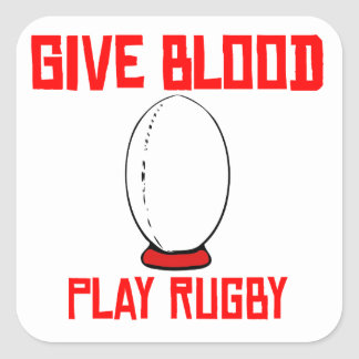 Give Blood Play Rugby Stickers