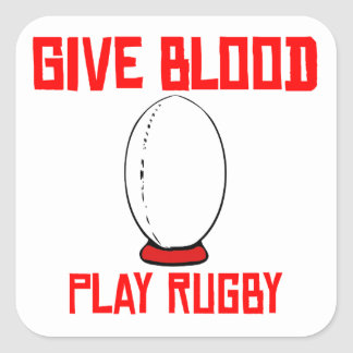 Give Blood Play Rugby Sticker
