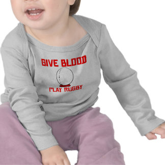Give Blood Play Rugby T Shirt