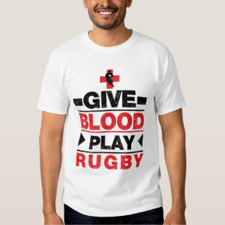 Give Blood Play Rugby Tee Shirt