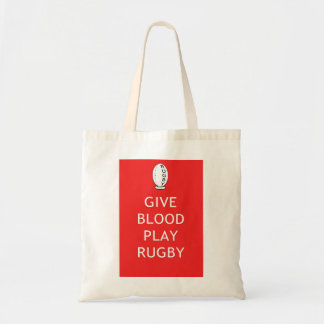 Give Blood Play Rugby Tote Bag
