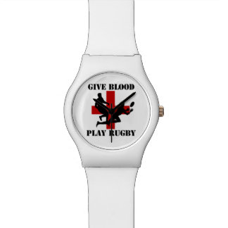 Give Blood Play Rugby Wrist Watch
